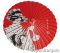 Japanese Geisha Kasa Paper Parasol 42in