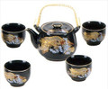 Porcelain Tea Set Golden Dragon 24oz