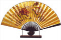 Large Oriental Table Fan Dragon 18in