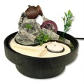 Ying Yang Table Water Fountain w/ Jar