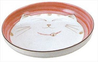 Smiling Pink Cat Porcelain Deep Dish 8-1/2in