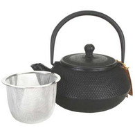 Black Hobnail Cast Iron Teapot 21oz