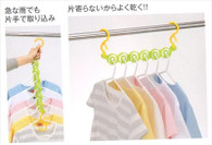 Japanese Plastic Laundry Hanger Lime Color