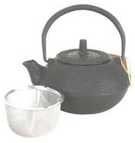 Black Hobnail Cast Iron Teapot 15oz