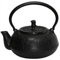 Black Bamboo Cast Iron Teapot 42oz