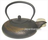 Black Cast Iron Teapot w/ Ripple 24oz
