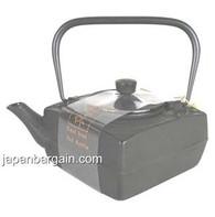 Black Dragonfly Square Cast Iron Teapot 18oz