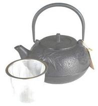 Black Bamboo Pine Plum Cast Iron Teapot 18oz
