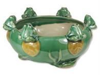 Porcelain Round Lucky Bamboo Daffodil Bonsai Pot