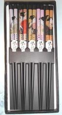 Geisha Bamboo Chopstick Gift Set