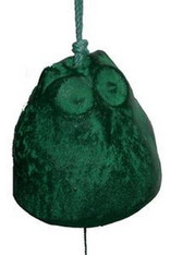 Japanese Cast Iron Green Owl Wind Chimes