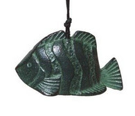 Japanese Cast Iron Green Fish Wind Chimes