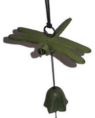 Japanese Cast Iron Dragonfly Wind Chimes