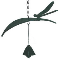 Japanese Cast Iron Dragonfly on Leaf Wind Chimes