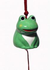 Japanese Porcelain Green Frog Kaeru Wind Chimes