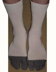 Mens Long Ninja Boot Tabi Sock