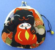Maneki Neko Lucky Cat Coin Purse #22408-4