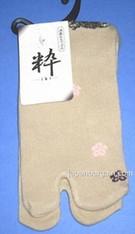 Womens Tabi Sock Sakura & Usagi Cream