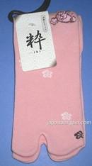 Womens Tabi Sock Sakura & Usagi Pink