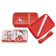 Sanrio Hello Kitty Bear & Ribbon Lunch Bento Box w/ Chopsticks