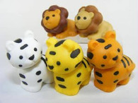 5 pieces Iwako erasers - Lion & Tiger (Color May Vary)