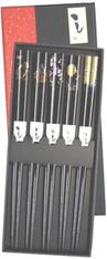 Black Bamboo Chopsticks Sakura Gift Set