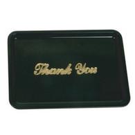 Black Plastic Restaurant Tip Tray Plate