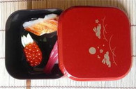 Japanese Lunch Bento Box Red Bunny