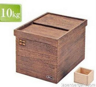 Wooden Rice Storage Container Box 22 lbs