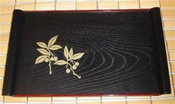 Japanese Rectangle Plastic Sushi Serving Plate Apricot