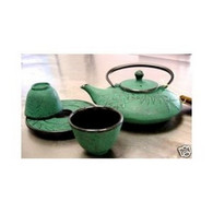 Bamboo Cast Iron Tea Set Green