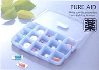 Japanese 15 Compartment Supplement Pill Cases
