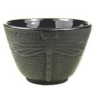 Black Dragonflly Cast Iron Teacup