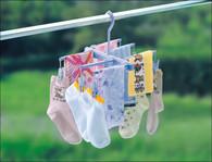 Sock Lingerie Laundry Hanger Two Way 6 Pegs