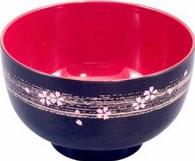 Japanese Plastic Lacquer Sakura Miso Soup Bowl