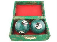 Baoding Balls Chinese Health Exercise Stress Balls Green Color