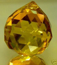 Amber Crystal Ball Prisms 40mm