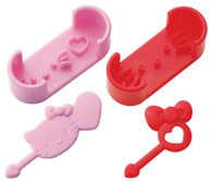 Hello Kitty Sausage Cutter Mold w/Pick Set of 2