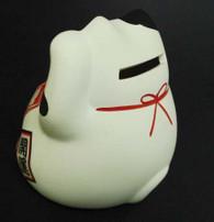 White Ceramic Maneki Neko Lucky Cat