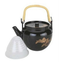 Plastic Melamine Teapot Black 38oz