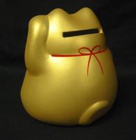 Gold Ceramic Maneki Neko Lucky Cat