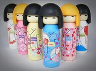 6 pieces Iwako erasers - Kokeshi Doll (Color May Vary)