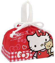 Sanrio Hello Kitty Bear with Ribbon Draw String Bento Box Bag