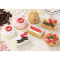 7 pieces Iwako erasers - Cake Pastry (Color May Vary)