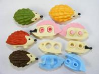 6 pieces Iwako erasers - Hedgehog (Color May Vary)