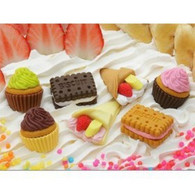 7 pieces Iwako erasers - Cake Biscuit Crepe (Color May Vary)
