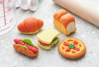 5 pieces Iwako erasers - Bakery (Color May Vary)