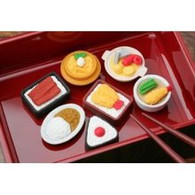 7 pieces Iwako erasers - Japanese Food (Color May Vary)