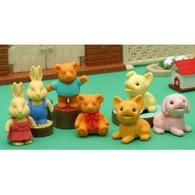 7 pieces Iwako erasers - Dog Bear Rabbit (Color May Vary)