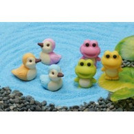6 pieces Iwako erasers - Frog & Duck (Color May Vary)